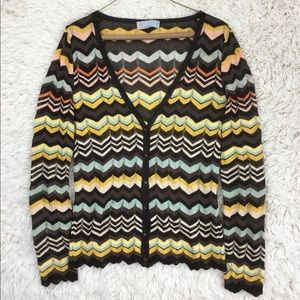 Missoni cardigan sweater knit v neck